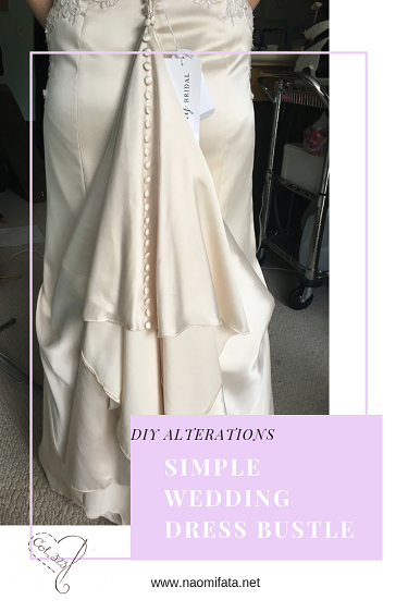 One Point Wedding Dress Bustle Diy Slipcovers And Alterations