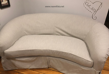 How To Make A Slipcover For Curved, Round Couch Slipcovers